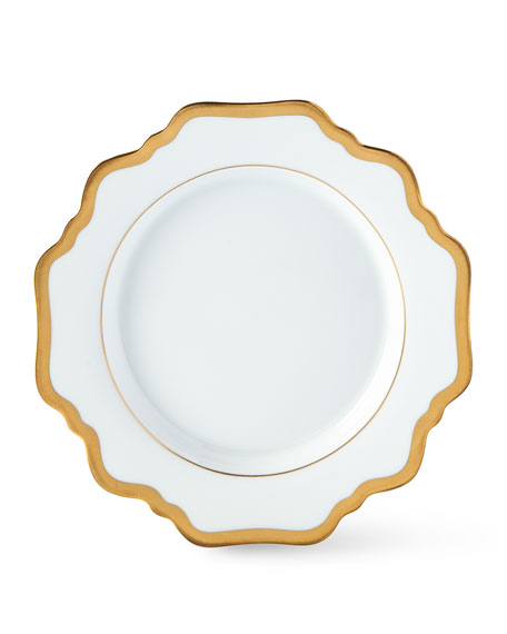 """Antique White with Gold"" Bread & Butter Plate"
