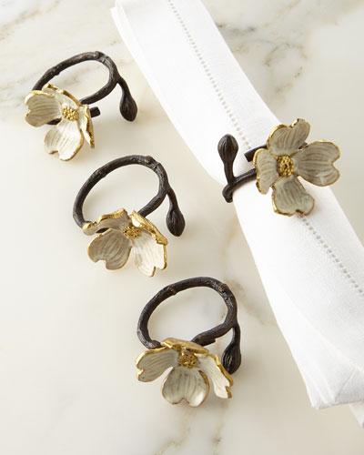 Dogwood Napkin Ring, Set of 4