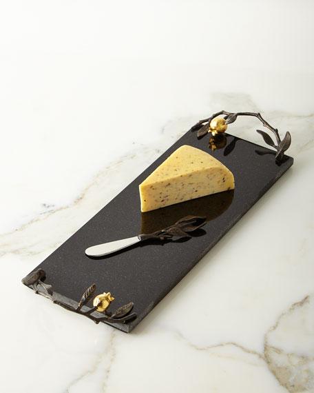 Pomegranate Cheese Board & Knife