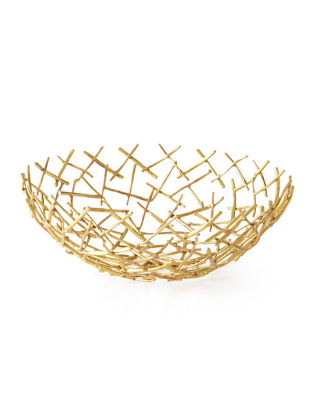 Michael Aram Decorative Thatch Bowl, Medium