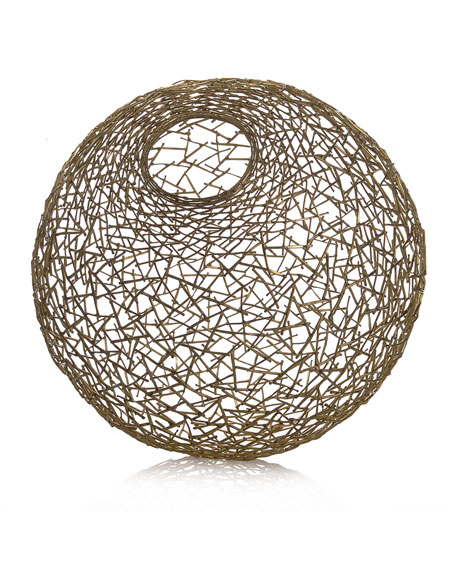 Decorative Thatch Ball, Medium