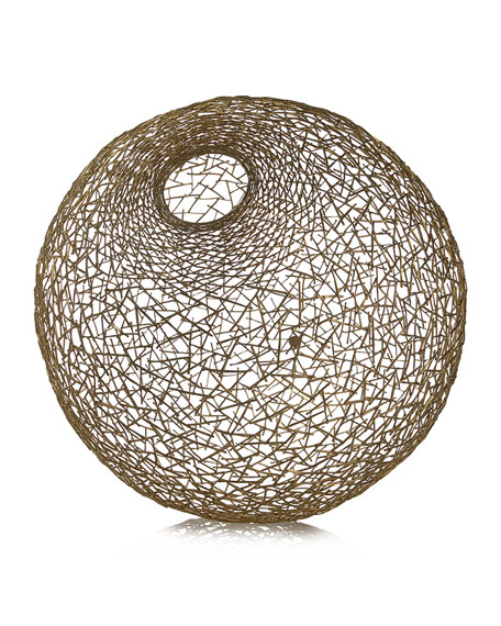 Decorative Thatch Ball, Large
