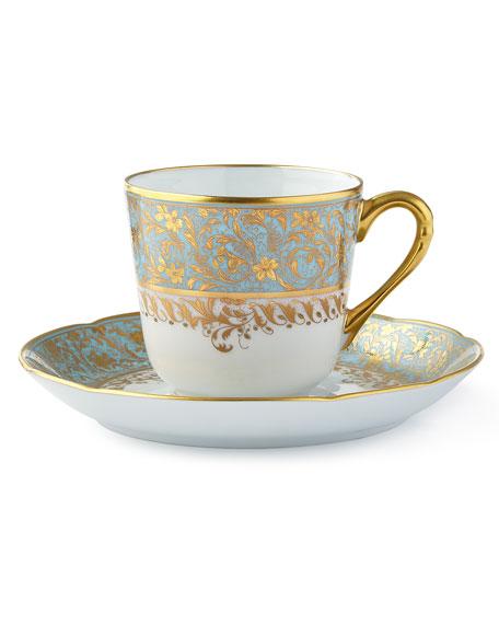 Bernardaud Eden Turquoise Coffee Saucer