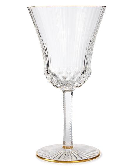 Apollo Wine Glass with Gold Rim