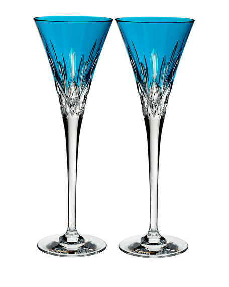 Set of 2 Lismore Pops Toasting Flutes