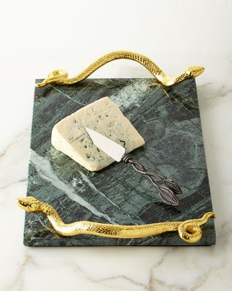 Michael Aram Rainforest Cheese Board and Knife