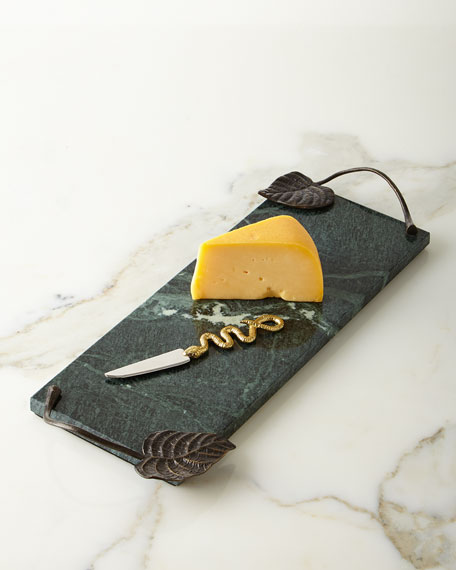 Michael Aram Small Rainforest Cheese Board and Knife