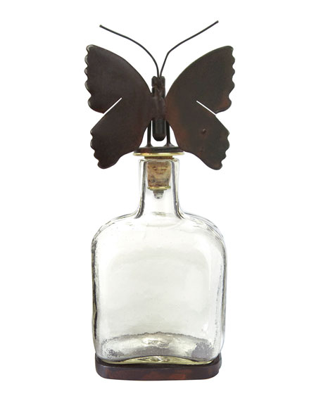 Jan Barboglio Mariposa Glass Decanter