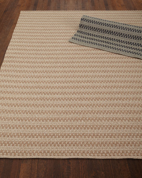 Deja Mirage Tweed Indoor/Outdoor Rug, 5' x 7'6""