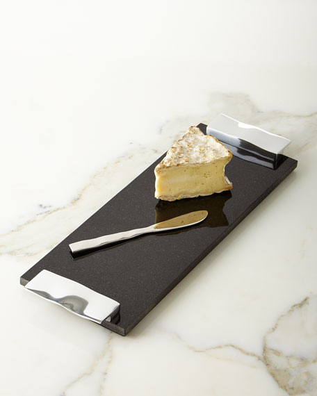 Ripple Effect Cheese Board & Knife
