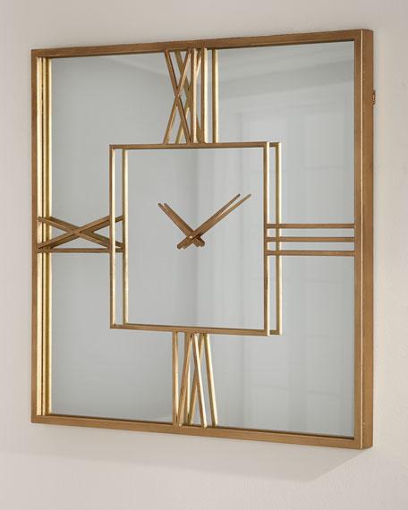 Mirror Clock Gold Neiman Marcus