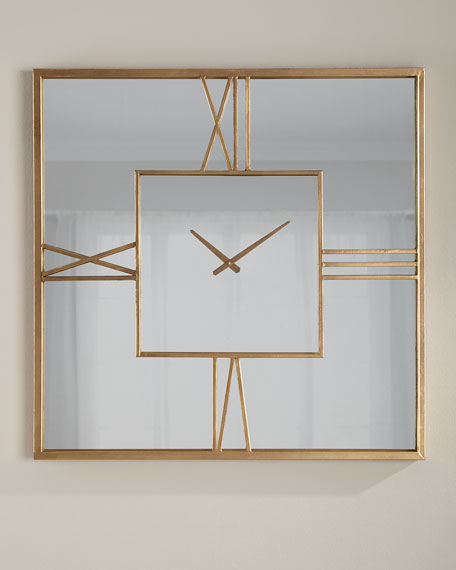 Mirror Clock, Gold