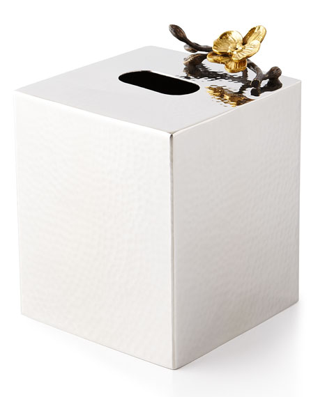 Michael Aram Gold Orchid Tissue Box Cover