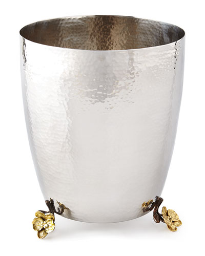 Gold Orchid Waste Basket