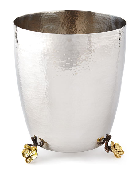 Michael Aram Gold Orchid Waste Basket