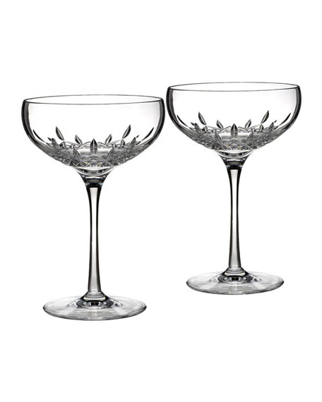 Lismore Essence Saucer Champagne Glass, Set of 2