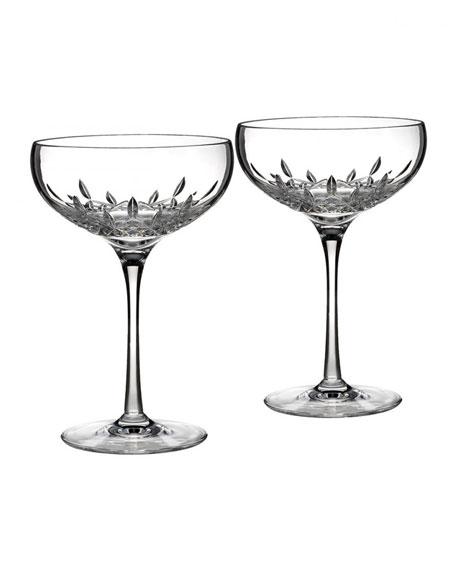 Lismore Essence Saucer Champagne Glass, Set of 2