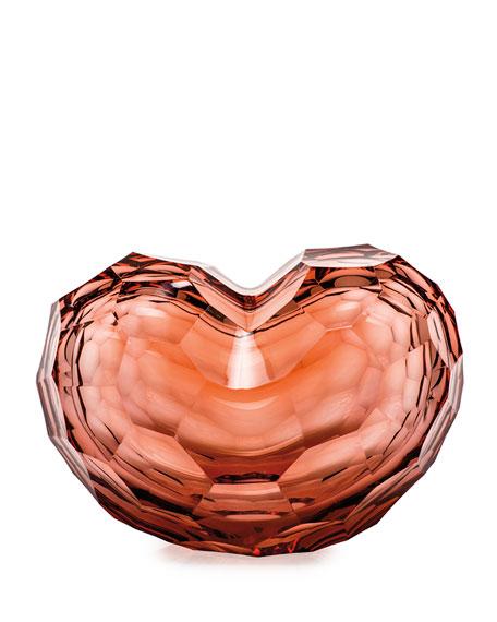 Moser Blush Heart Sculpture
