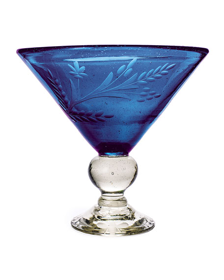 Jan Barboglio Wee-Bee Magnum Martini Glass, Blue