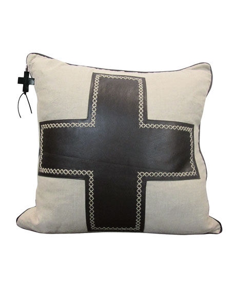 Jan Barboglio Black Cruz Pillow