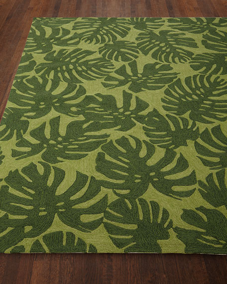 Fond Leaf Indoor/Outdoor Rug, 3'6