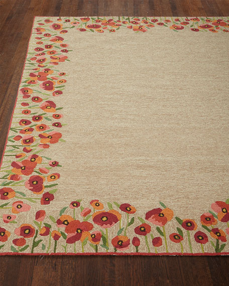 Poppies Indoor/Outdoor Rug, 5' x 7'6