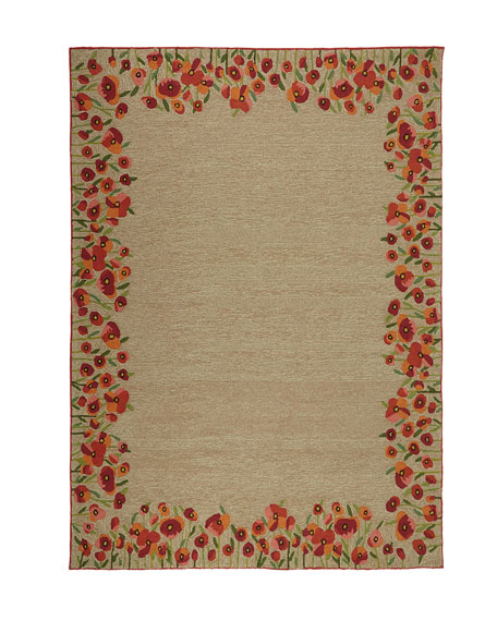 Poppies Indoor/Outdoor Runner, 2' x 8'