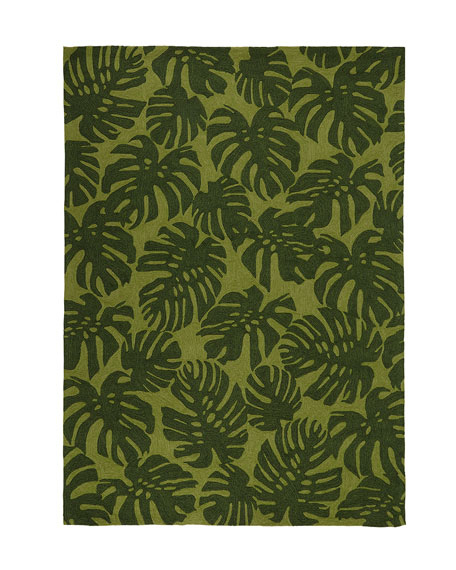 Fond Leaf Indoor/Outdoor Rug, 5' x 7'6""