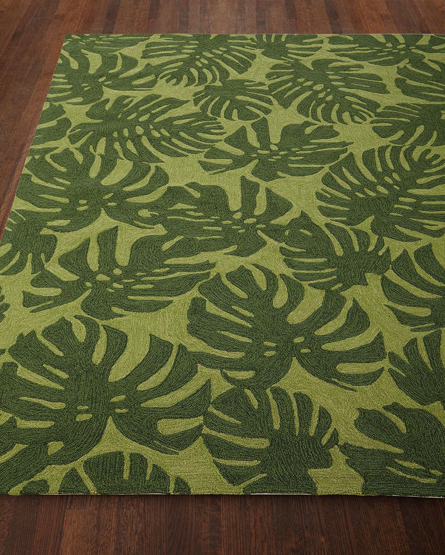 Fond Leaf Indoor Outdoor Rug 5 X 7 6 Neiman Marcus