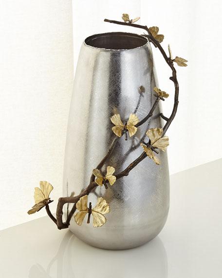 Butterfly Ginkgo Centerpiece Floor Vase