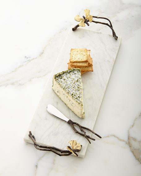 Butterfly Ginkgo Small Cheese Board & Knife