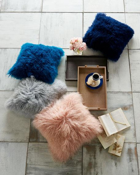 Blush Tibetan Lamb Pillow