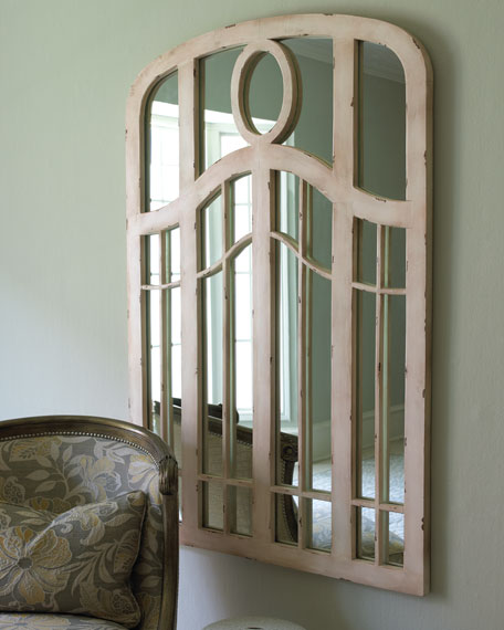 Mirror with Wooden Overlay