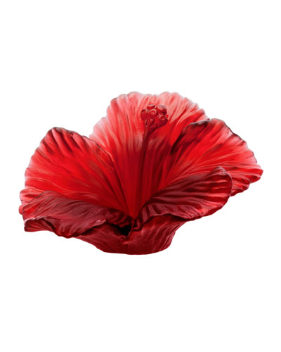 Red Crystal Hibiscus Flower