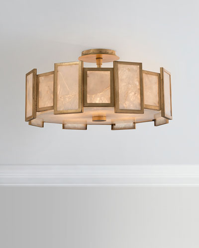 6-Light Calcite Semi-Flush Light