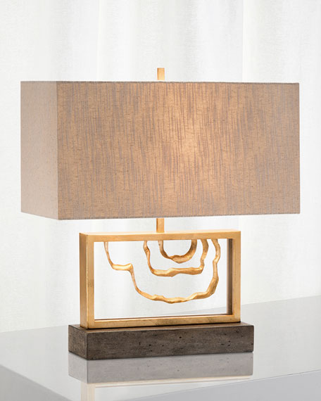 Golden Stack Arch Table Lamp