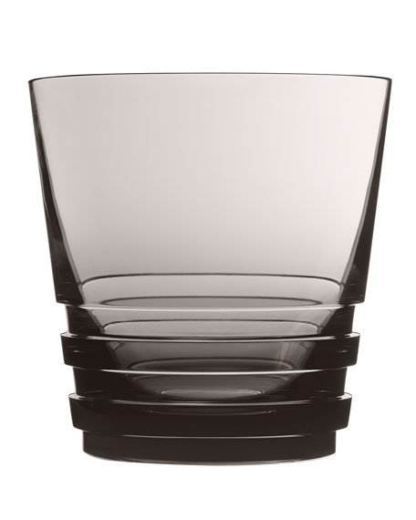 Saint Louis Crystal Large Oxymore Double Old-Fashioned, Gray