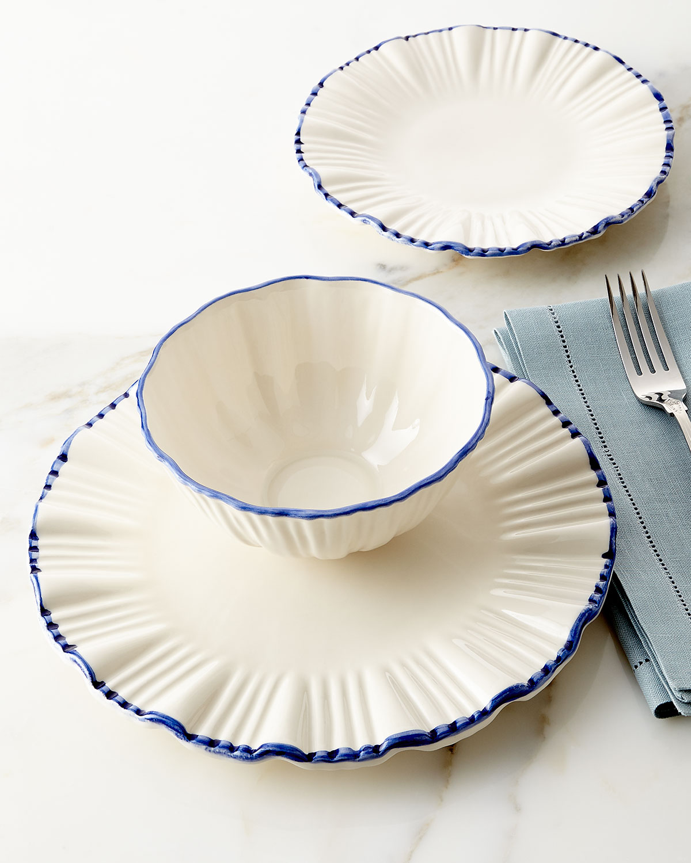 12-Piece Blue-Rim Fluted Dinnerware Service  sc 1 st  Neiman Marcus & 12 Piece Portugal Dinnerware | Neiman Marcus