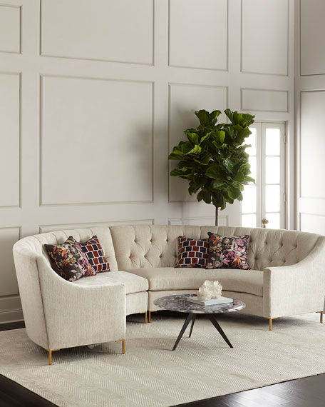 : tufted sectional - Sectionals, Sofas & Couches