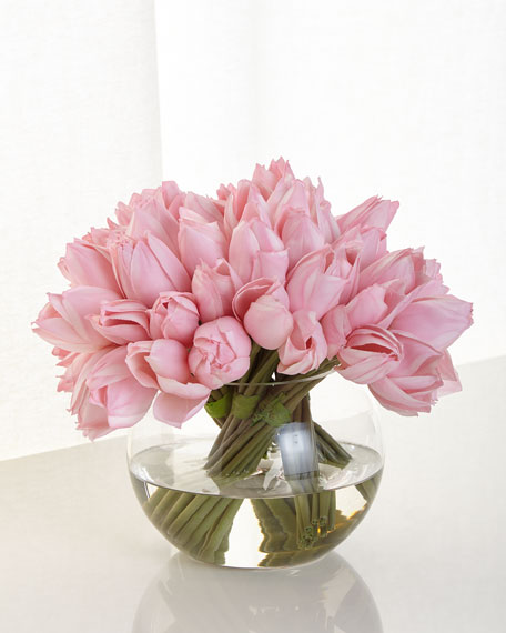 John-Richard Collection Pink Tulip Faux Floral