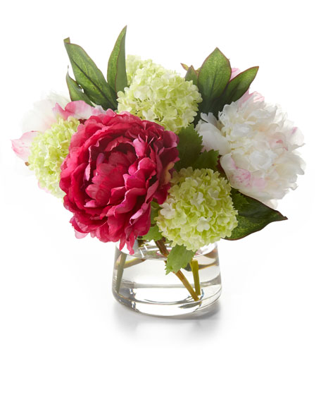 Peony Snowball Faux Floral