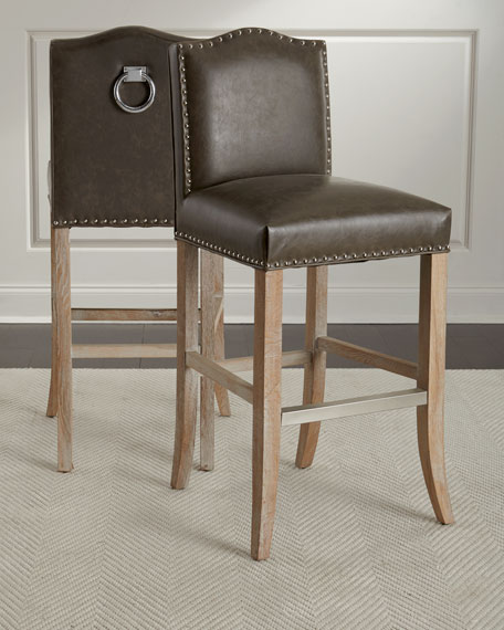 Cole Leather Barstool