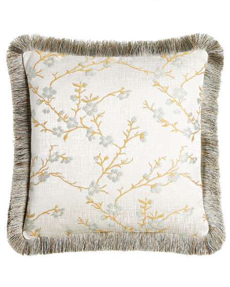 Austin Horn Classics Blossom Pillow with Fringe, 20