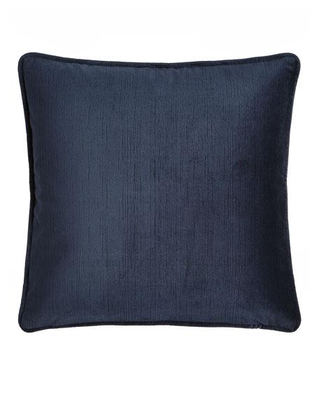 """Windfall Navy Velvet Pillow, 20""""Sq."""