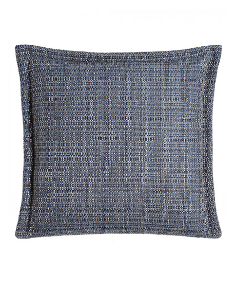 "Windfall Navy Chenille Pillow, 18""Sq."