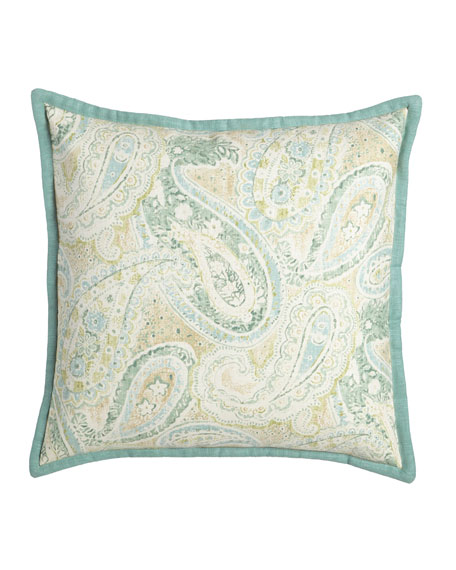 "Bliss Paisley Pillow, 20""Sq."
