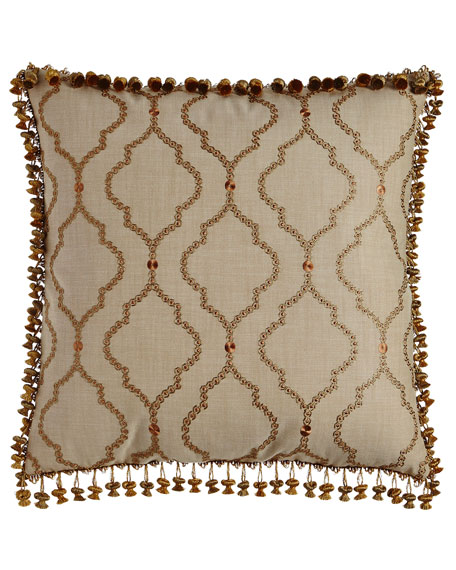 Sweet Dreams European Manitoba Embroidered Sham with Onion