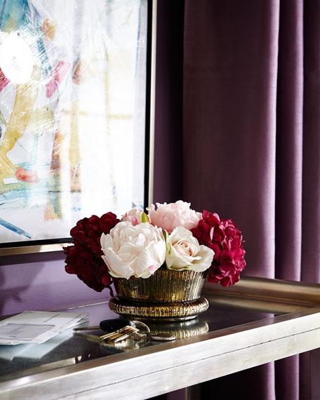 Golden Ombre Faux Floral