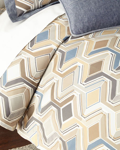 Twin Maze Geometric Duvet Cover