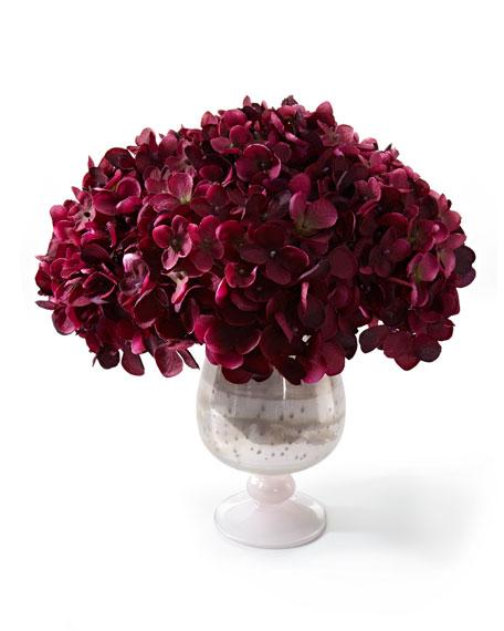 """Amethyst Pearls"" Faux Floral"